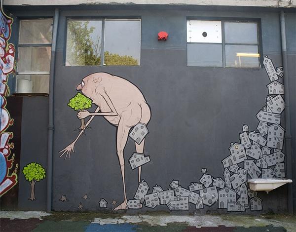 """Bức tranh ám ảnh về việc chúng ta đang """"tiêu thụ"""" cây xa và """"thả ra"""" các"""
