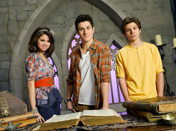 Jake, right, who is famous for his role as Max Russo in Disneys Wizard of Waverly Place alongside best friend Selena Gomez, left, and David Henrie, centre