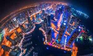 Cảnh đẹp như phim khoa học viễn tưởng ở Dubai từ trên cao