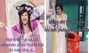 Hot teen Việt hưởng ứng chiến dịch 'ngưng xả rác đêm giao thừa'