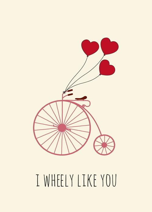 """""""Tớ thích bạn"""", những chiếc bánh xe đạp cũng có cách bày tỏ tình cảm của riêng mình."""