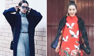 Sao style 9/2: Chi Pu diện váy len maxi sang chảnh, Emily xinh tươi áo dài cách tân