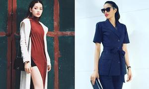Sao style 10/2: Chi Pu diện váy xẻ cao khoe chân, Phạm Hương đẹp thanh lịch
