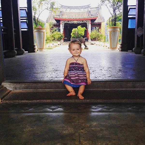 """""""Con bé được sinh ra là để đi du lịch"""", người mẹ cô bé cho biết."""