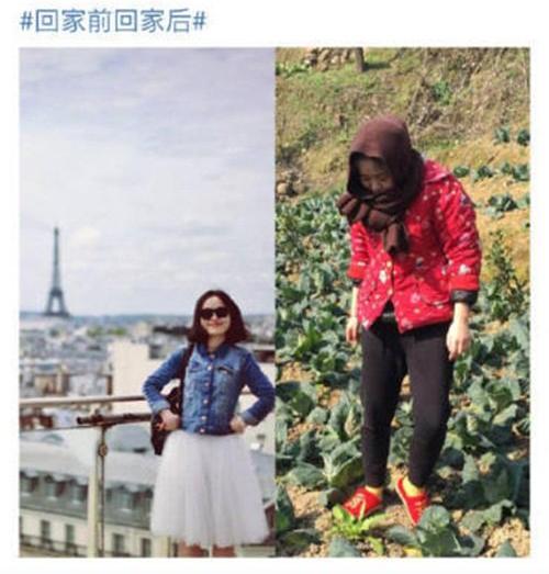 Hình ảnh trước và sau khi về nhà nghỉ Tết của các thiếu nữ này khác nhau một trời một vực, khiến người xem không khỏi ngỡ ngàng.