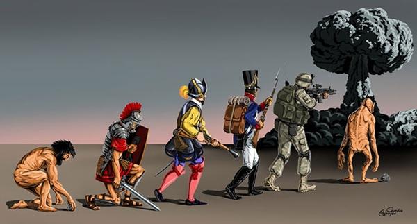 Theo đà tiến hóa, con người sẽ đi vào chỗ diệt vong vì chiến tranh hạt nhân.