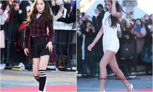 Irene lộ chân ngắn, Seol Hyun, Yura diện váy hở giữa trời lạnh