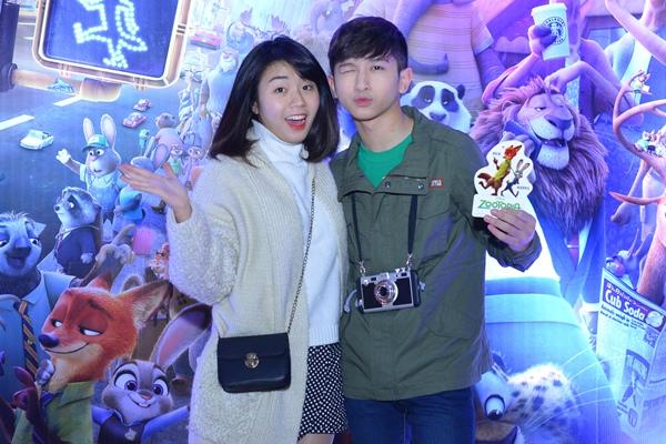 Hot boy Hoàng Dương và cô bạn thân Lò Bảo Linh.