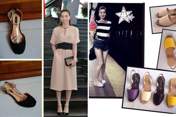 """Không chỉ mê quần áo, rất nhiều đôi giày của Hà Hồ cũng được sắm từ hàng bình dân. Thế nên chẳng khó để các cô gái yêu thời trang mua được một đôi giống hệt thần tượng. Các từ khóa như """"giày Hà Hồ"""" cũng từng rất hot trên mạng."""
