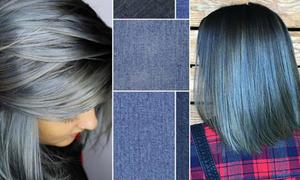 Màu tóc denim - mốt mới chất chơi hợp với nhiều trang phục