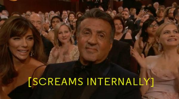 Nụ cười gượng của ngôi sao gạo cộiSylvester Stallone