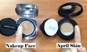 Phấn nước siêu hot April Skin và Nakeup Face tỉ thí