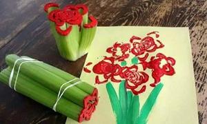Tranh vẽ ngộ nghĩnh từ lõi giấy, chai nhựa