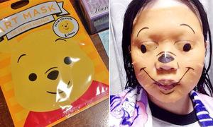 Mặt nạ gấu Pooh gây hết hồn vì đắp lên như dọa ma
