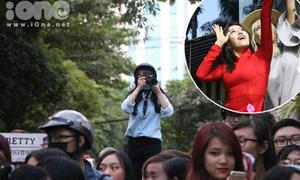 Fan bám đuôi suốt 3 tiếng, hò hét không ngừng khi gặp T-ara