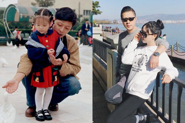 Hình ảnh khác biệt của ông bố qua 18 năm. Cô con gái giờ đã trưởng thành và cả hai thường bị lầm tưởng là một đôi khi chụp ảnh chung.