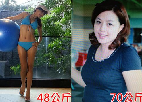 """Một bà mẹ khác ở Đài Loan sinh năm 1971 tên Zhang Ting Xuan cũng khiến cộng đồng mạng """"phát sốt"""" bởi thân hình chuẩn như người mẫu, khuôn mặt rạng ngời."""