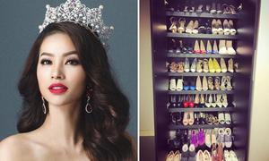 Những Hoa hậu, Á hậu có tủ giày 'dùng cả đời không hết'