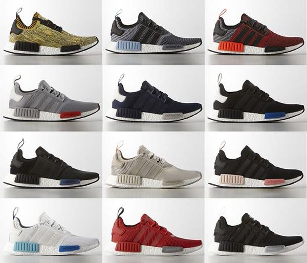 Adidas NMD là dòng giày thể thao ra mắt cuối năm ngoái, lấy cảm hứng từ những thiết kế sản phẩm trong quá khứ bao gồm Rising Star, Micropacer, Boston Super.và đã tạo nên một cơn sốt với tín đồ sneaker. Ngày 17/3 vừa qua, giới mê giày ở Hà Nội và Sài Gòn háo hức khi hãng cho ra mắt thêm bản phối màu mới với nhiều cách kết hợp sáng tạo, tăng độ bắt mắt cho mẫu giày.