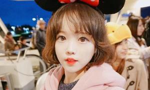 Cô gái Hàn 22 tuổi mặt như học sinh cấp một