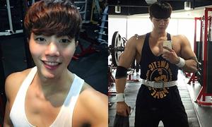 Chàng trai Hàn Quốc mặt thư sinh thân hình cơ bắp