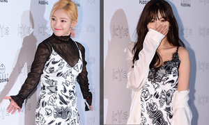 Hyun Ah, Hyo Yeon diện 'váy ngủ' đi xem thời trang