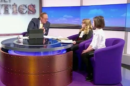 Nhà báo Andrew Neil và hai khách mời nhí sắc sảo -