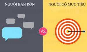 Sự khác biệt giữa người bận rộn và người có mục tiêu