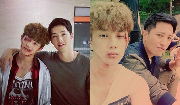 """""""Binh nhất"""" Kim Min Suk, sinh năm 1990 nhưng có khuôn mặt trẻ con như mới   chớm 20. Trong phim, Min Suk đóng vai Kim Ki Bum, một tên lưu manh trộm cắp   được cặp đôi sĩ quan điển trai Yoo Shi Jin - Seo Dae Young cứu giúp và cảm hóa,   gia nhập hàng ngũ quân nhân. Anh chàng cũng chính là người """"se duyên"""" cho Shi   Jin và Mo Yeon."""