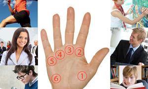 Lòng bàn tay tiết lộ tài năng tiềm ẩn của bạn