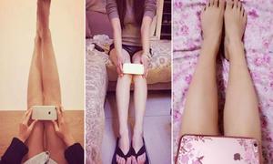 Sau eo A4, thiếu nữ Trung Quốc lại rộ mốt 'chân iPhone6'