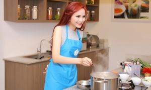 Diễm Hương khoe tài nấu nướng, được chuyên gia Nhật khen