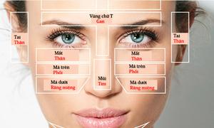 Vị trí mụn trên mặt nói gì về sức khỏe của bạn