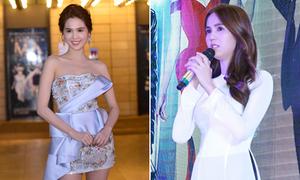 Ngọc Trinh chọn style đối lập khi ra mắt phim tại Hà Nội