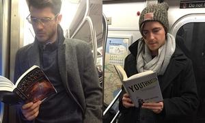 Hội 'trai đẹp đọc sách trên tàu điện' qua ảnh chụp lén
