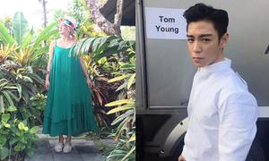 Sao Hàn 7/4: T.O.P bị xước mặt vẫn đẹp trai, Hyo Yeon khoe xì tai nghỉ mát