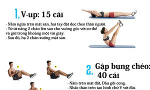 Cách để có cơ bụng 6 múi trong một tháng
