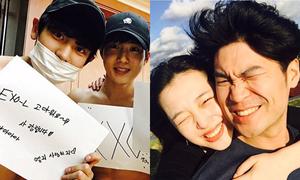 Sao Hàn 8/4: Sulli lần đầu khoe ảnh ôm hôn bạn trai, EXO nửa kín nửa hở