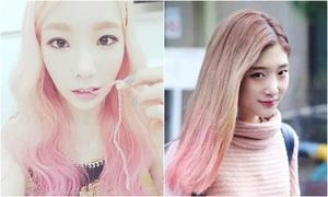 Loạt mỹ nhân Hàn chơi trội với tóc ombre hồng