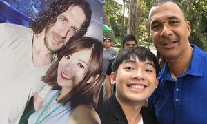 Hot teen Việt đua nhau selfie cùng 2 danh thủ bóng đá