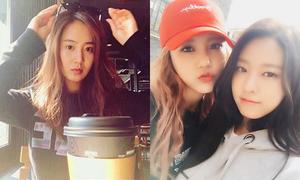 Sao Hàn 9/4: Seol Hyun đọ sắc Hye Jeong, Yuri kém xinh khi chưa tút tát