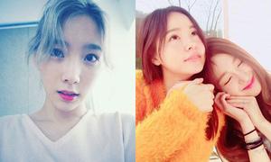 Sao Hàn 11/4: Tae Yeon lộ bọng mắt to, Tiffany tình cảm bên Min Hyo Rin