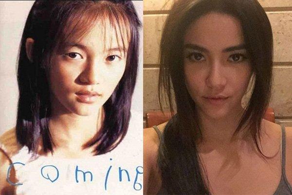 Ngoài ra, cặp mắt một mí của nữ diễn viên trước kia giờ đây đã được thay thế bằng cặp mắt to tròn và hút hồn.