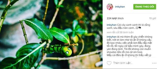 Sau đó cô đăng tiếp tấm ảnh về chú sâu cùng caption: