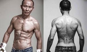 Cụ ông U70 gây thán phục với cơ bụng 6 múi