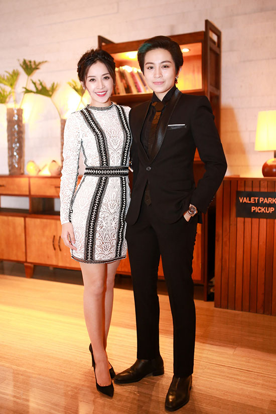 Tối 20/4, Chi Pu và Gil Lê tham dự đêm nhạc của ca sĩ Hồ Ngọc Hà. Cả hai xuất hiện khá thân thiết
