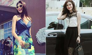 Sao style 25/4: Phạm Hương sexy, Huyền My tươi tắn sau sự cố váy nhái
