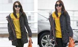 Dara (2NE1) bị chê khi theo mốt áo khoác xộc xệch