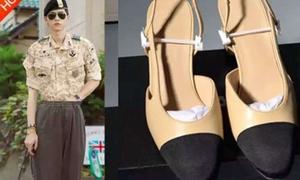 Song Joong Ki bị photoshop đi giày cao gót nhái trên trang mua sắm