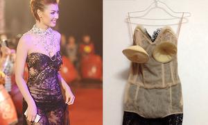 Những lớp lót có như không trên váy áo sao Việt
